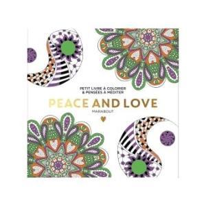Petit livre à colorier - Peace and love
